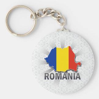 Romania Flag Map 2.0 Basic Round Button Keychain
