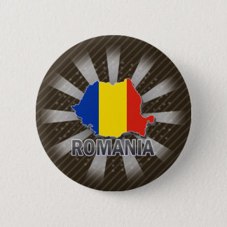 Romania Flag Map 2.0 Pinback Button