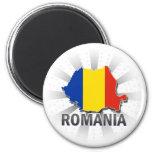 Romania Flag Map 2.0 Refrigerator Magnet