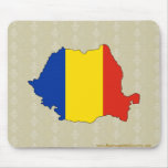 Romania Flag Map full size Mouse Pad