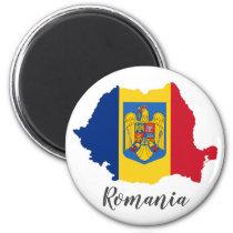 Romania Flag Map Magnet