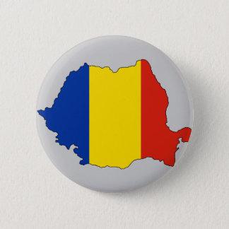 Romania flag map pinback button