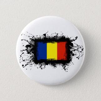 Romania Flag Pinback Button