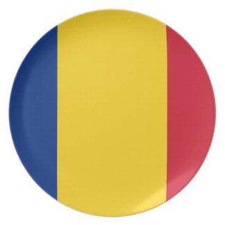 Romania Flag Dinner Plates