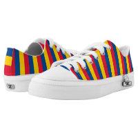 Romania Flag -. Printed Shoes