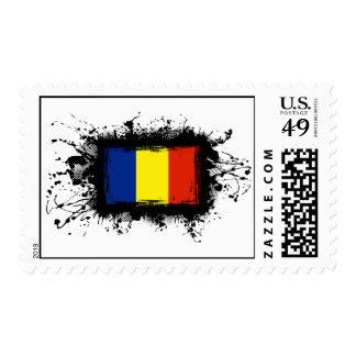 Romania Flag Postage