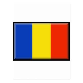 Romania Flag Postcard