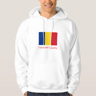 Romania Flag The MUSEUM Zazzle I Love MY Country Hooded Pullovers