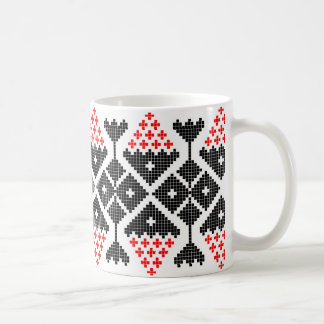 romania folk ethnic dance geometric motif costume coffee mug