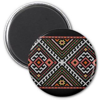 romania folk symbol popular motif costume balcans 2 inch round magnet