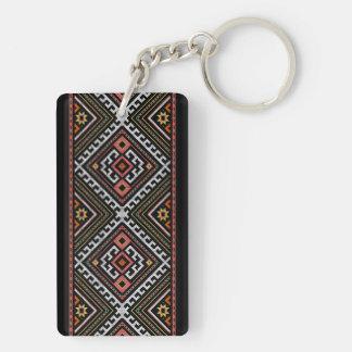 romania folk symbol popular motif costume balcans keychain