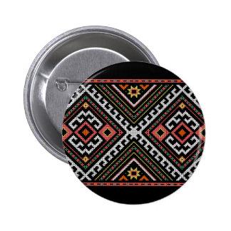 romania folk symbol popular motif costume balcans pinback button
