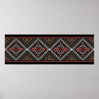 romania folk symbol popular motif costume balcans poster