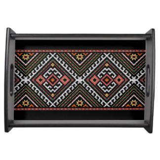 romania folk symbol popular motif costume balcans serving tray