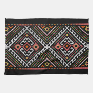 romania folk symbol popular motif costume balcans towel