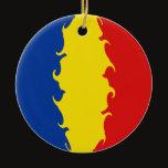 Romania Gnarly Flag Ceramic Ornament