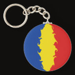 Romania Gnarly Flag Keychain