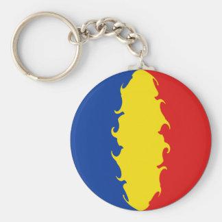 Romania Gnarly Flag Keychain