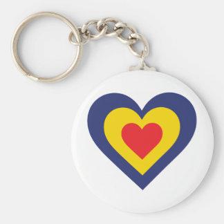 Romania Heart Keychain