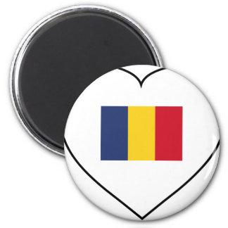 Romania 2 Inch Round Magnet
