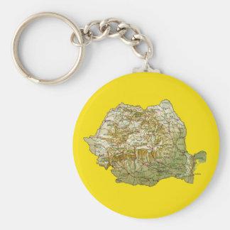 Romania Map Keychain