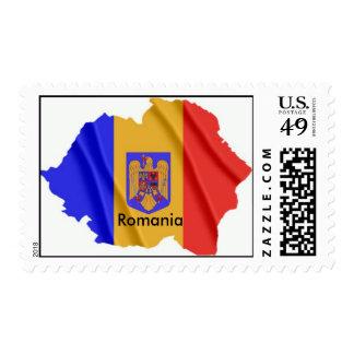 Romania - map postage