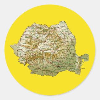 Romania Map Sticker