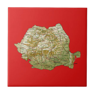 Romania Map Tile