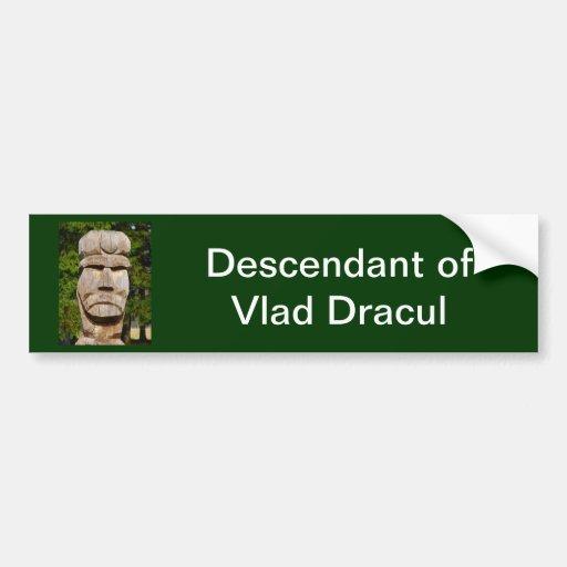 Romania, Meet Vlad Dracul Car Bumper Sticker