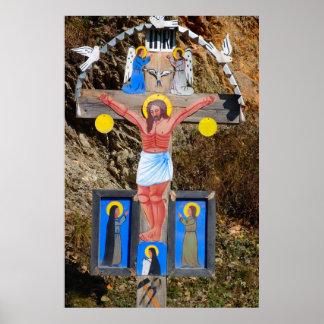 Romania, Moldova, Wayside Calvary shrine Poster
