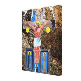 Romania, Moldova,wayside shrine Gallery Wrapped Canvas