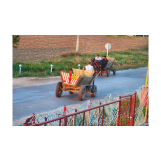 Romania, Morning rush hour Canvas Print