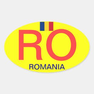 Romania* Oval Bumper Sticker