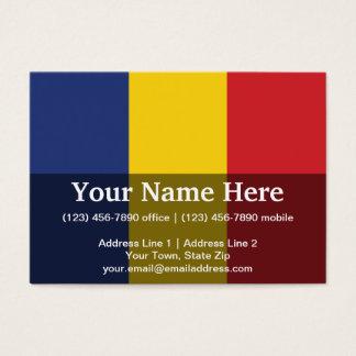 Romania Plain Flag Business Card