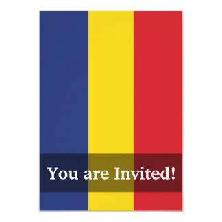 Romania Plain Flag 5x7 Paper Invitation Card