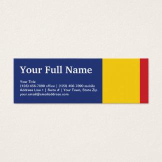 Romania Plain Flag Mini Business Card