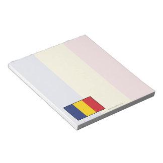 Romania Plain Flag Note Pad