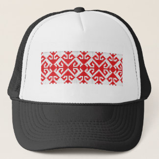 romania popular motifs symbol genuine folk costume trucker hat