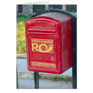 Romania,Post box Card