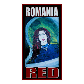 ROMANIA RED POSTER