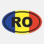 Romania RO European Oval Sticker