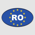 Romania RO European Union Oval Sticker