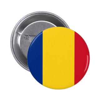 Romania, Romania flag Pinback Button