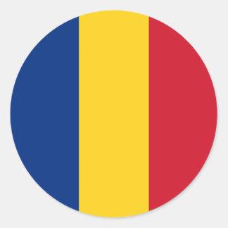 Romania – Romanian Flag Classic Round Sticker