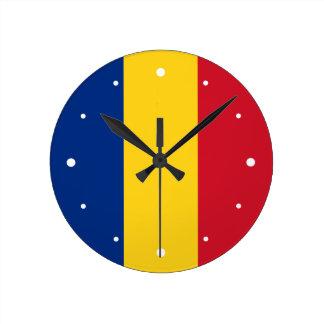 Romania – Romanian Flag Round Wall Clock