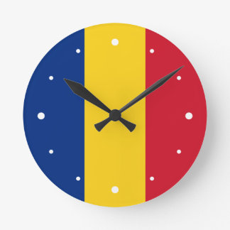 Romania – Romanian Flag Round Clock