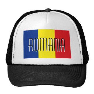 Romania romanian flag trucker mesh souvenir hat