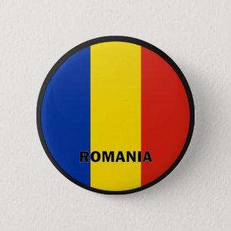 Romania Roundel quality Flag Pinback Button