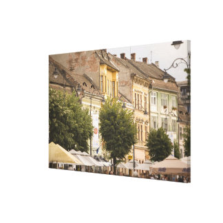 Romania Sibiu New Town RF Gallery Wrapped Canvas