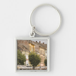 Romania, Sibiu. New Town. RF) Keychain